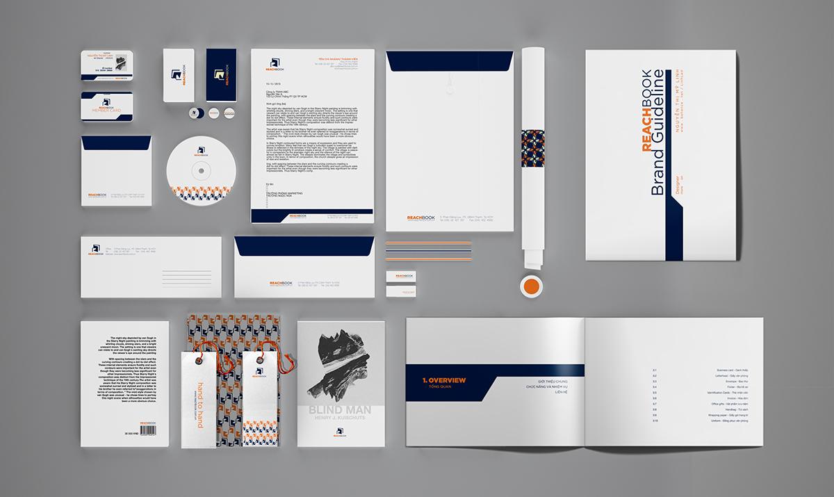 Ấn phẩm văn phòng | Bộ ấn phẩm văn phòng thương hiệu Reachbook
